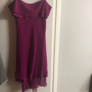 Magenta DVF silk dress
